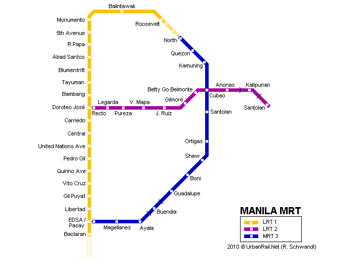 lrt manila The manila light rail transit authority system, popularly and informally known as the lrt, is a metropolitan rail system serving the metro manila area in the philippines.